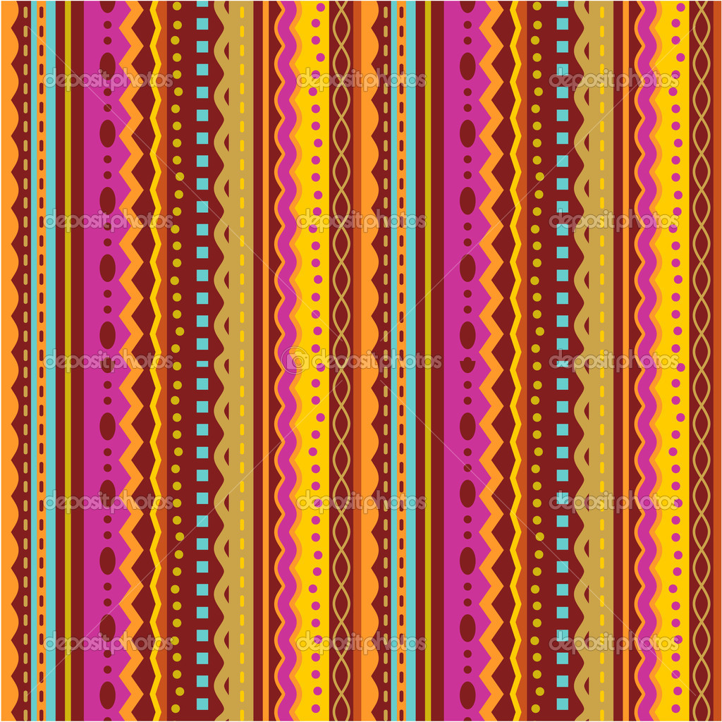 Seamless (you see 4 tiles) stripes and laces retro syle pattern  (background, wallpaper, print, swatch) of autumn colors — Stock Vector #3868163