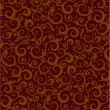 Brown floral pattern background — Stock Vector
