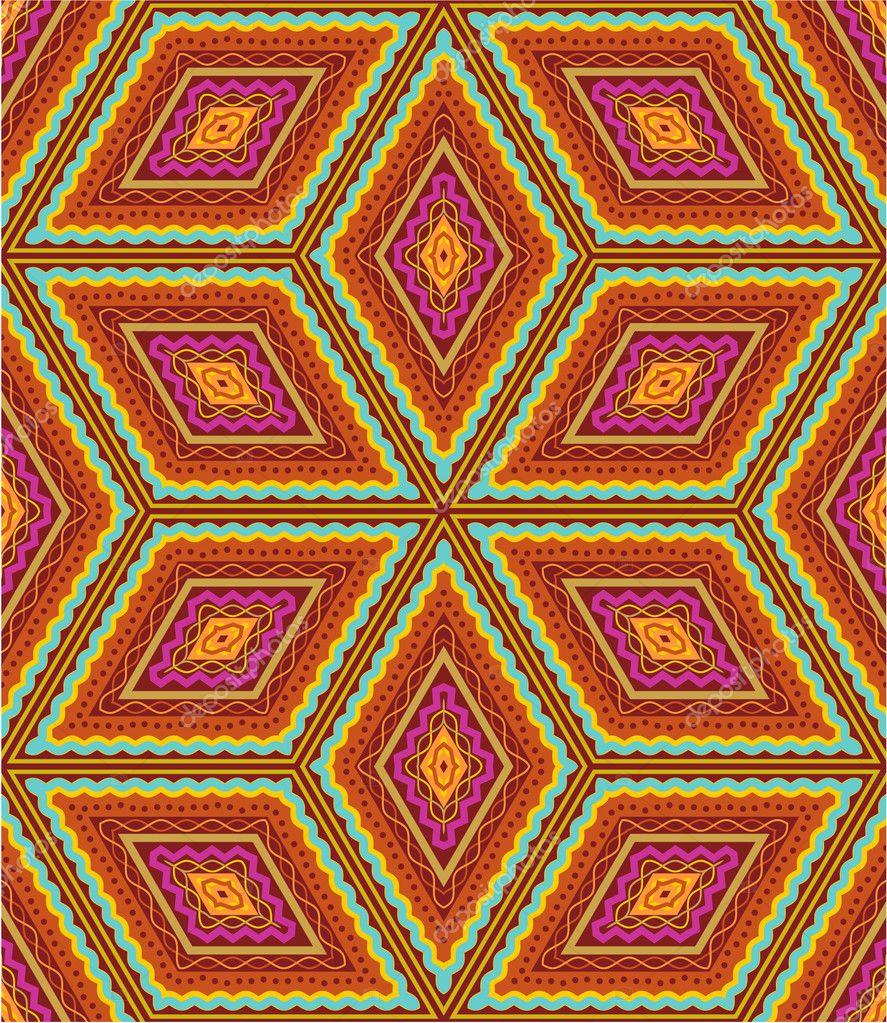 """3'9"""" x 5'2"""" Area Rug Geometric Pattern in Chocolate"""