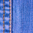 Blue jeans texture with stitch — Stock Photo