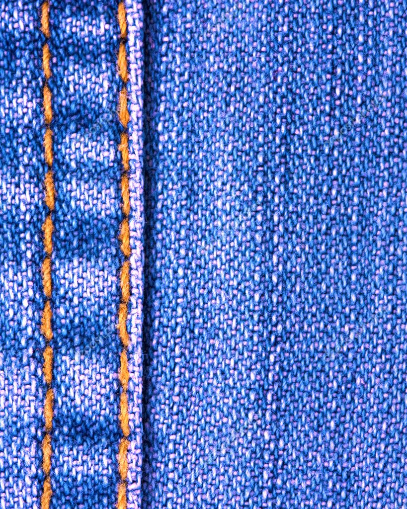 Blue jeans texture with stitch — Stock Photo #2874324