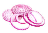 Sliced fresh red onion — Stock Photo