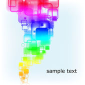 Abstract multicolored rounded squares background — Stock Vector
