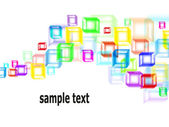 Abstract multicolored cubes background — Stock Vector