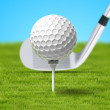 Balle de golf — Stock Photo