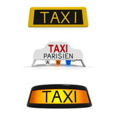 Different taxi signs — Stock Photo