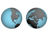 Hemispheres of earth — Stock Photo