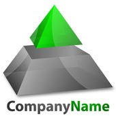 Logo piramide — Stockvector