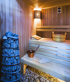 Cozy sauna — Stock Photo