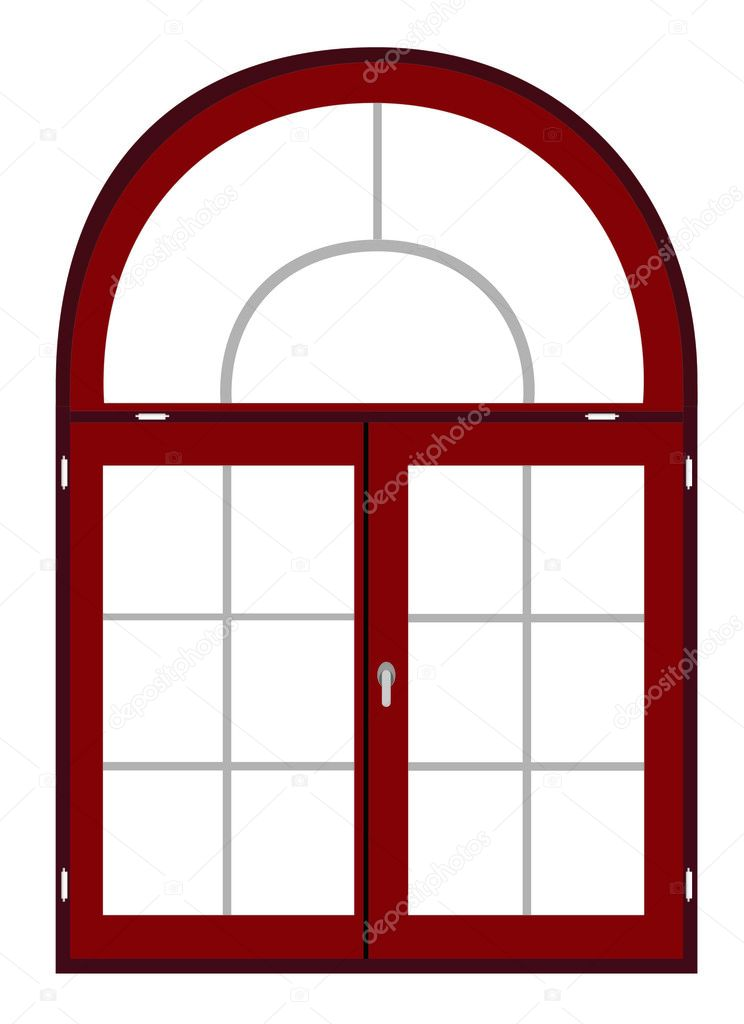 Plastic window template model with clipping path included, vector illustration — Stock Vector #2877510