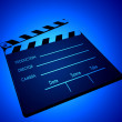 Film clapper - Stock Photo