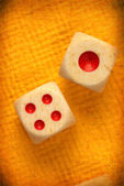 Square dice — Stock Photo