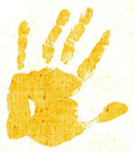 Printout of human hand — Stock Photo