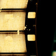 Stock Photo: Movie film strips