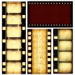 Movie film strips — Stock Photo