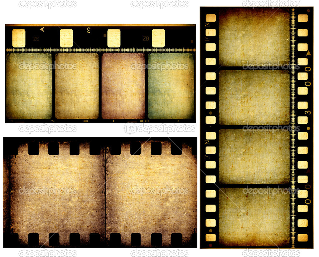Close up of vintage movie film strips  Stock Photo #3630035