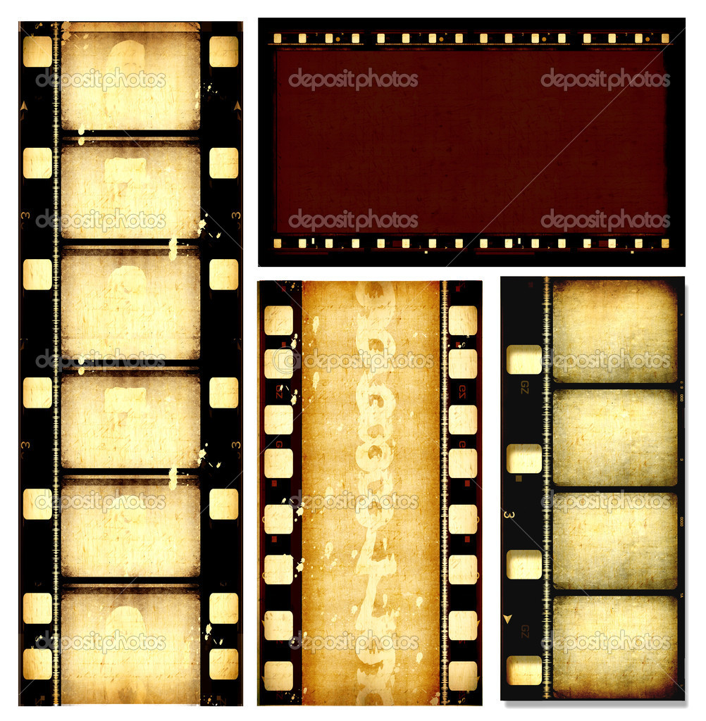 Movie film strips stock image