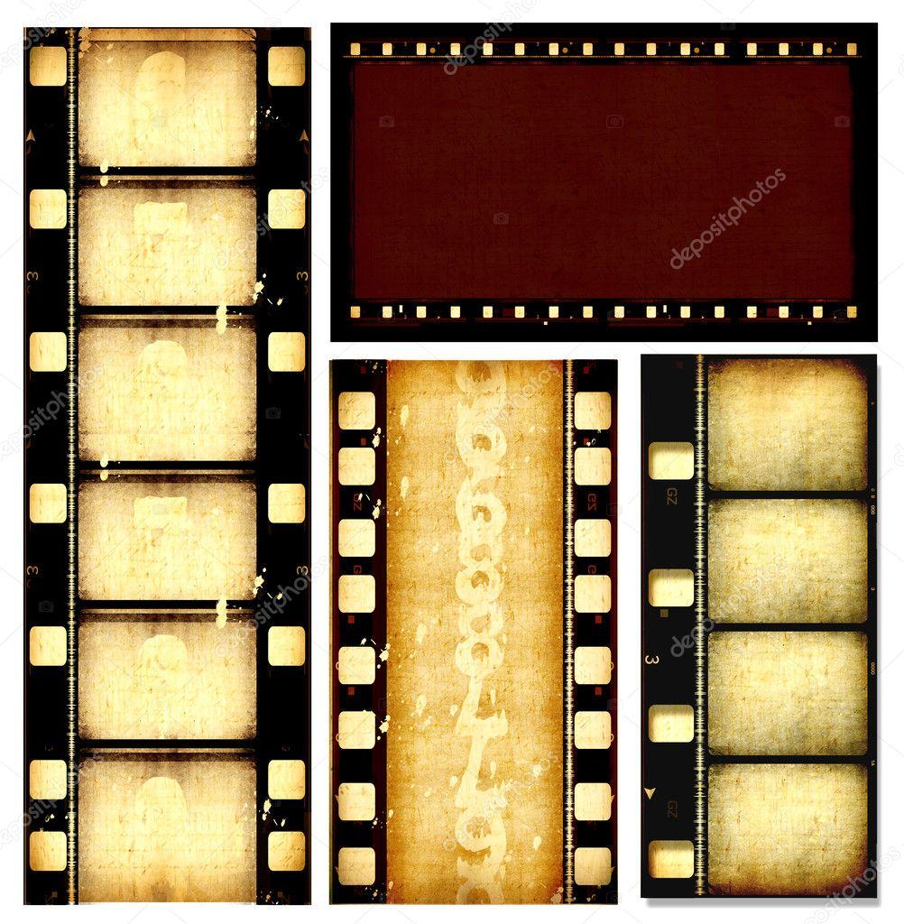 Movie film strips - Stock Image