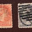 Old postal stamps — Stock Photo