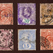 Old postal stamps - Stock Photo