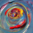 Abstract hand painted art — Stok fotoğraf