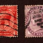 Постер, плакат: Old postal stamps