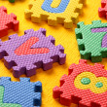 alfabeto e números blocos — Foto Stock