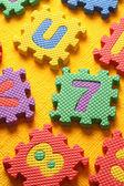 Alfabeto y bloques números — Foto de Stock