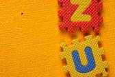Close up of alphabet Blocks — Stock Photo