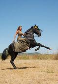 Riding girl — Stock Photo