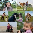 Stock Photo: Children and dogs