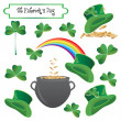 St Patrick holiday objects — Stock Vector