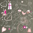 Royalty-Free Stock Imagen vectorial: Valentine design elements