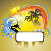 Tropical surf — Stock Vector