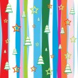 Seamless Christmas wallpaper — Stock Vector