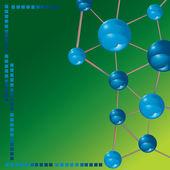 молекула технологии фон — Cтоковый вектор