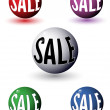 Promotional sale balls — Stock Vector