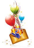 Correo de cumpleaños — Vector de stock
