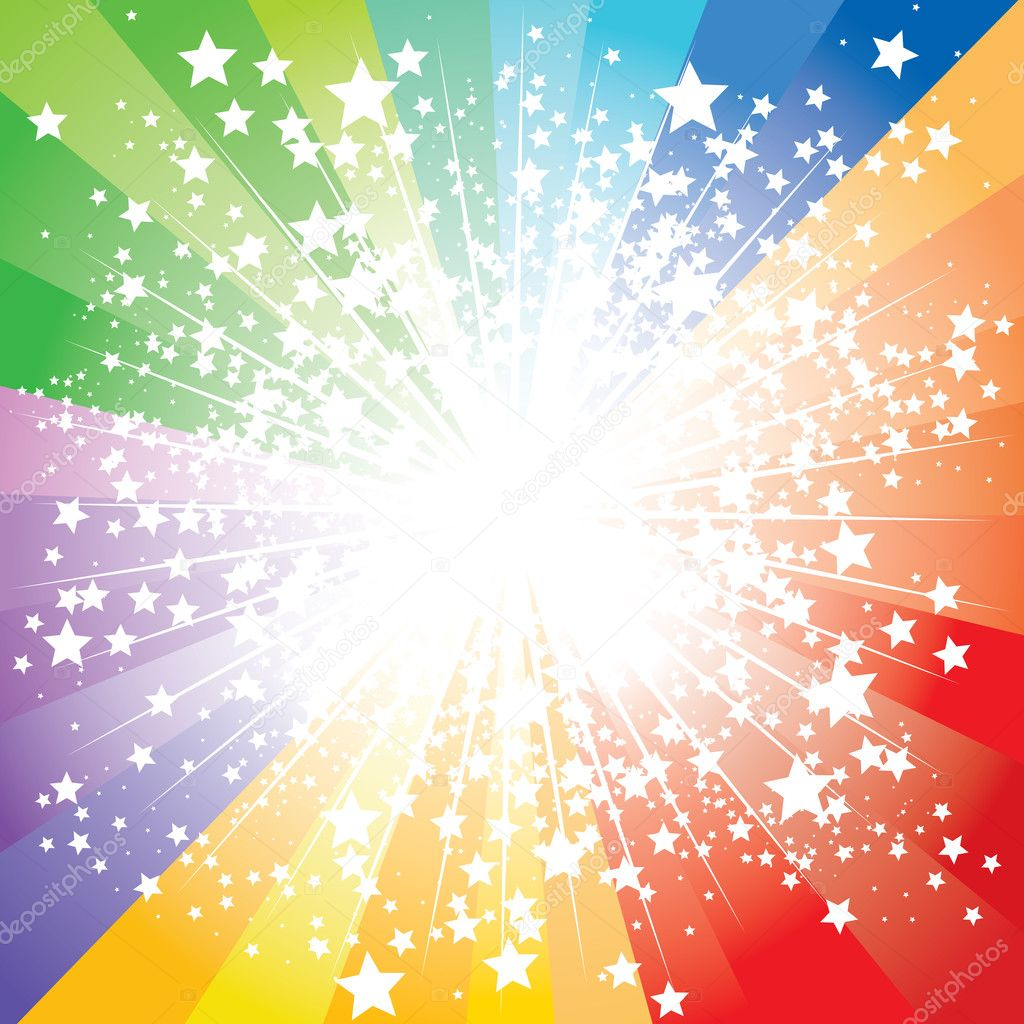 Abstract stars burst, vector illustration — Stok Vektör #3623979