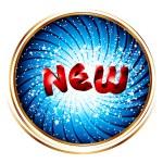 """NEW"""" inscription banner — Stock vektor"""