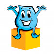 Royalty-Free Stock Vector Image: Blinky siting on the box