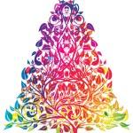Rainbow christmas tree — Stock Vector