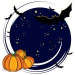 Halloween cartoon background — Stock Vector
