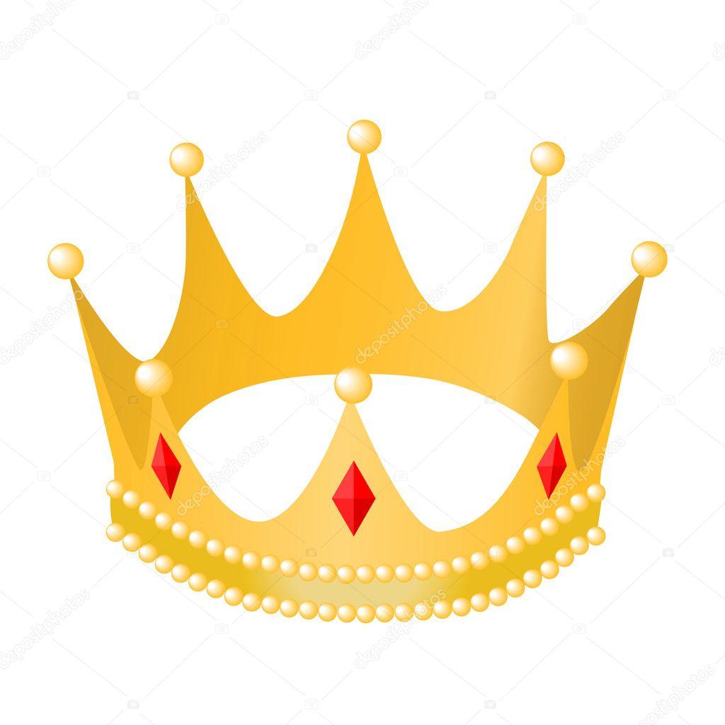 Royal Gold Crowns Gold royal crown - stock