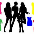 Fashion silhouettes — Stock Vector #3753073