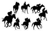Riding horse - vector — Stock Vector