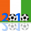 Stock Photo: Soccer 2010 Ivory Coast