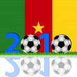 Soccer 2010 Cameroon — Stock Photo