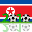 Soccer 2010 North Korea — Stock Photo