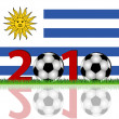 Stock Photo: Soccer 2010 Uruguay